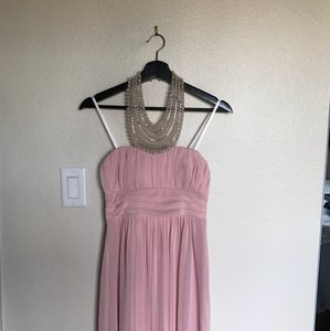 City Triangles Pink W Baby W/Pearl Neckline Formal Bridesmaid/Mob Dress Size 2 (XS)