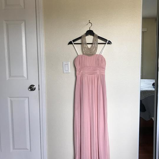 City Triangles Pink W Baby W/Pearl Neckline Formal Bridesmaid/Mob Dress Size 2 (XS) Image 1