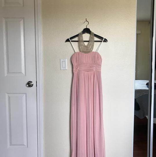 City Triangles Pink W Baby W/Pearl Neckline Formal Bridesmaid/Mob Dress Size 2 (XS) Image 4