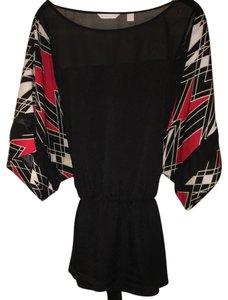 New York & Company Top black red white
