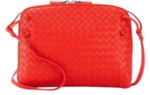 Bottega Veneta Vesuvio Woven Cross Body Bag