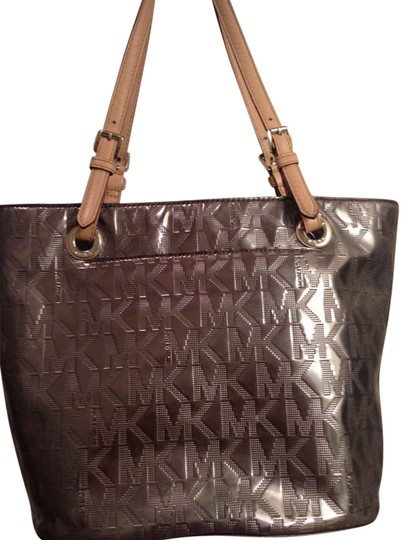 Preload https://item1.tradesy.com/images/michael-kors-hobo-shoulder-silver-with-brown-leather-straps-tote-206315-0-0.jpg?width=440&height=440