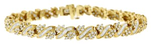 Other 5.00 Carat Natural Diamond Baguette & Rounds Bracelet In Solid 14k