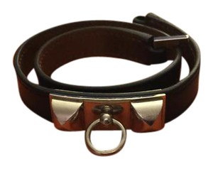 Hermès Hermes rivale double tour leather bracelet