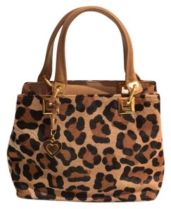 Stuart Weitzman Pony Hair Animal Suede Vintage Satchel in Black Brown Leopard Print