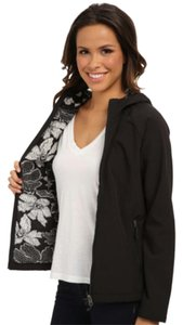 Type Z Coat Floral Black and White Jacket