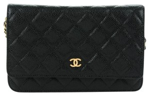 Chanel Caviar Gold Hardware Woc Wallet On Chain Cross Body Bag