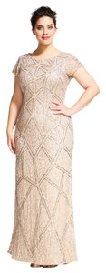 Adrianna Papell Geometric Beaded Gown Dress