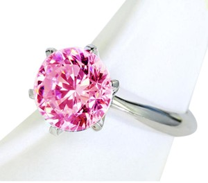 9.2.5 Gorgeous giant pink ice topaz silver ring size 8
