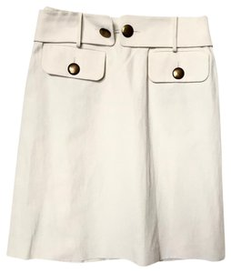 Chlo Chloe Linen Skirt off white cream
