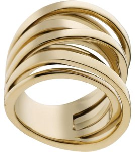 Michael Kors size 6 NWT Brilliance Gold Interwoven Ring MKJ2597710