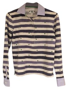 Gant T Shirt blue white stripe/lucky clover