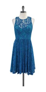 Plenty by Tracy Reese short dress Blue Floral Lace on Tradesy