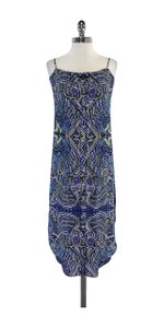 Mara Hoffman short dress Blue Yellow Tribal Print on Tradesy