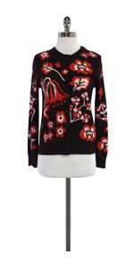 Brooks Brothers Brown Tone Floral Cashmere Cardigan
