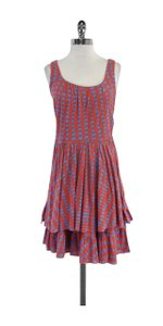 Marc by Marc Jacobs short dress Coral Blue Checkered Cotton on Tradesy