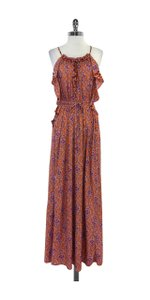 Maxi Dress by Calypso Orange Print Maxi