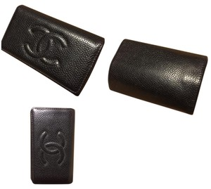 Chanel caviar card holder-