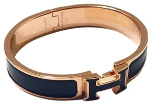 Hermès Limited Black H & Gold Clic H PM Bracelet