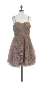 Adrianna Papell short dress Mauve Floral Applique Strapless on Tradesy