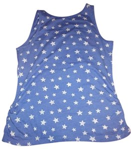 Faded Glory Xl Stars Top Blue & White