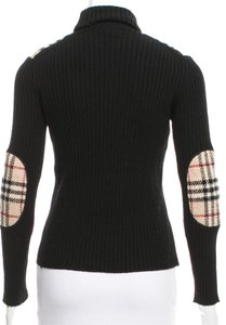Burberry Nova Check Plaid Longsleeve Monogram Wool Sweater