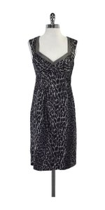 Nanette Lepore short dress Black Grey Leopard Print on Tradesy