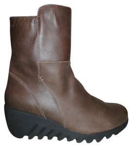 Cougar Leather Waterproof Wedge brown Boots