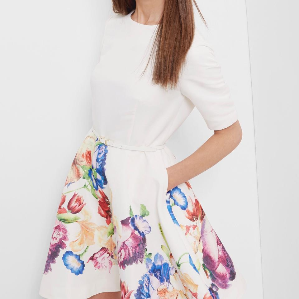 Ted Baker Pale Yellow Frutti Tapestry Floral Full Knee Length ...