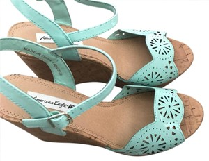 American Eagle Outfitters mint green Wedges