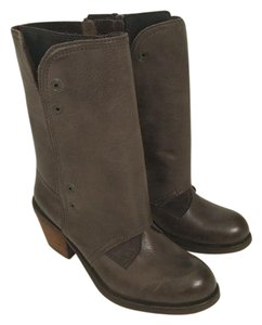 Luxury Rebel Faux Leather Brown Boots