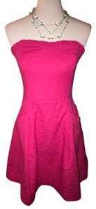 Lilly Pulitzer short dress $105 NWT Size 6 ** Free Shipping ** Strapless Pink on Tradesy