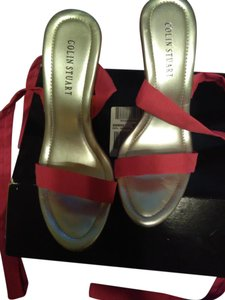 Colin Stuart pink and silver Wedges