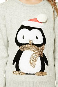 Forever 21 Ugly Christmas Holidays Christmas Sequins Sweater