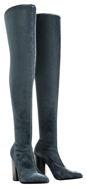 Item - Blue Box New Velvet Over The Knee Stretch Boots/Booties Size US 6.5 Regular (M, B)