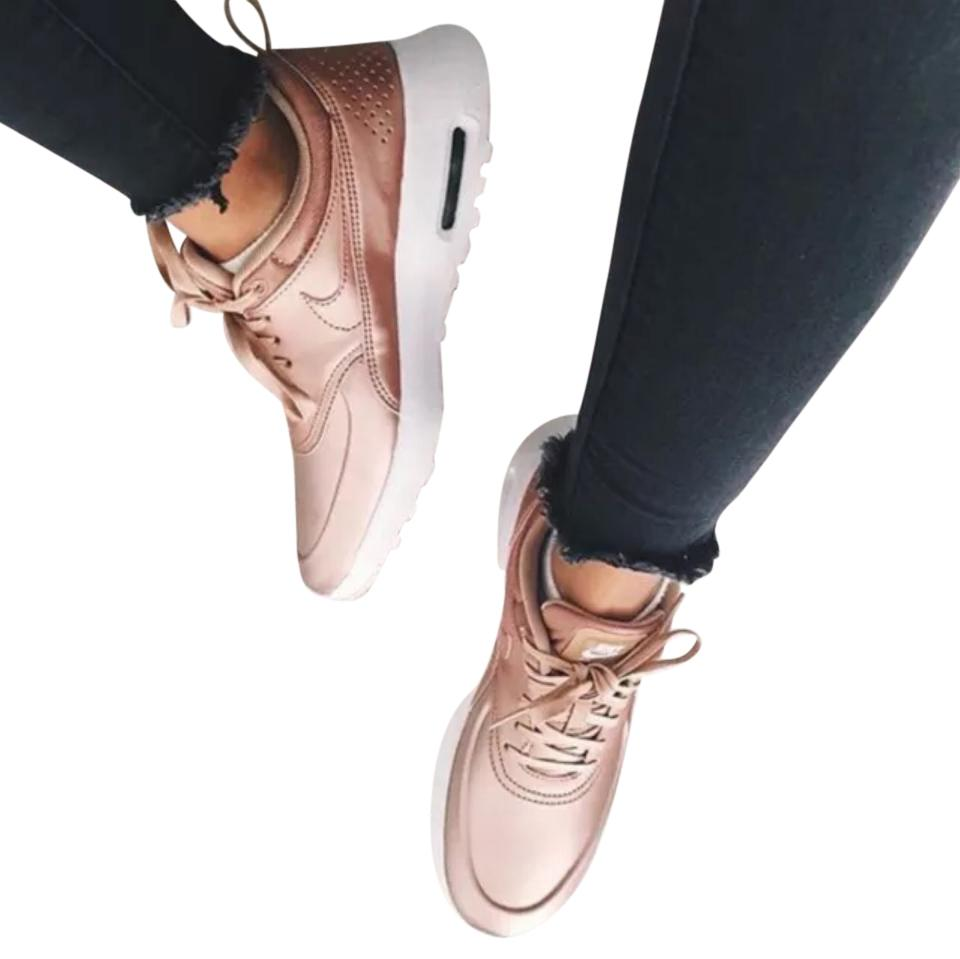 2c50e3a6c2 Nike Women's Air Max Thea Se Metallic Red Bronze Sneakers Style ...