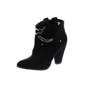 Zara Suede Studded Black Boots