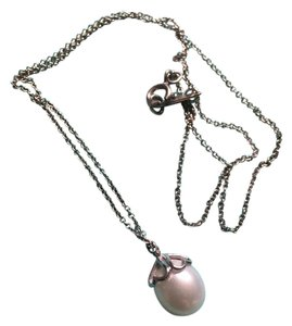 Tiffany & Co. Tiffany & Co Pearl Hearts Sterling Silver Pendant Necklace