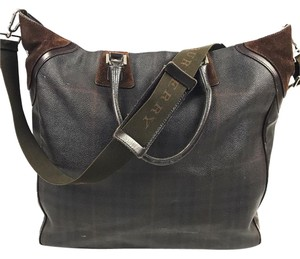 Burberry Brown Plaid Messenger Bag