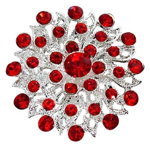 Boutique 9 Red Crystal Brooch, Bling and Pretty!
