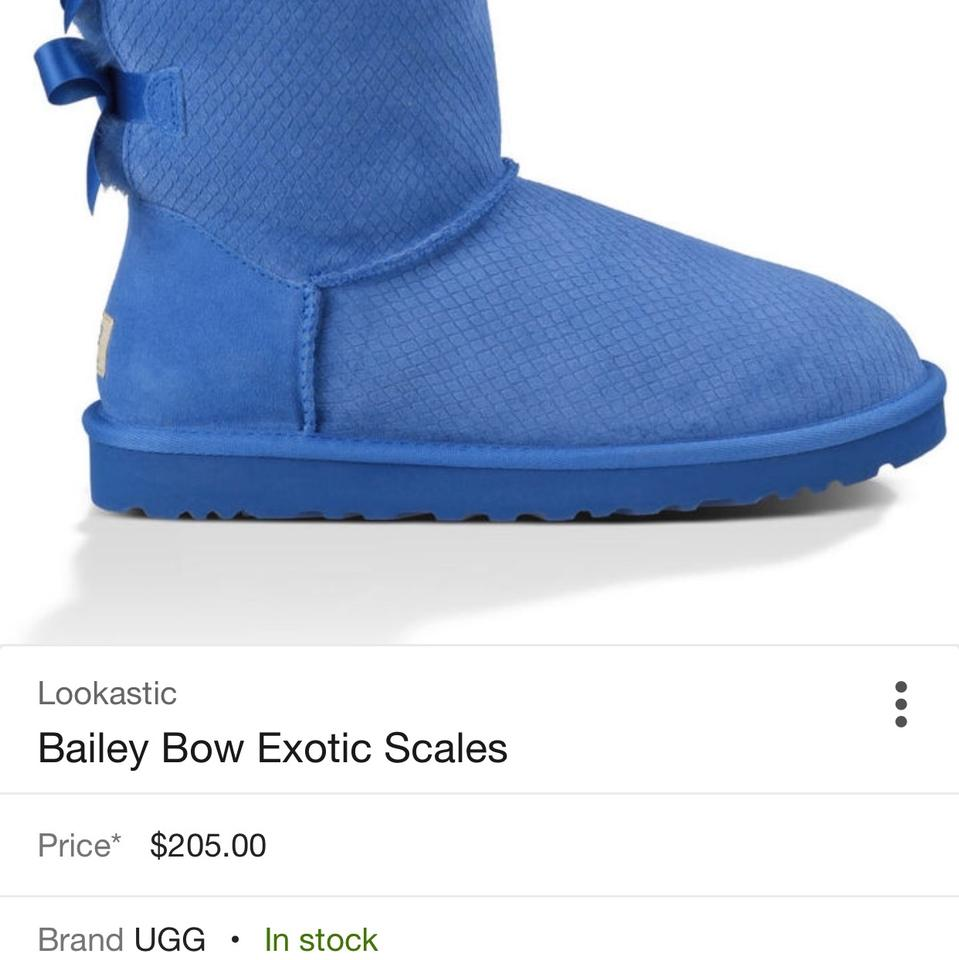 a7059072c0e UGG Australia Blue Bailey Bow Exotic Scales Boots/Booties Size US 9 Wide  (C, D) 60% off retail