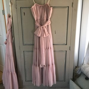 BHLDN Rosy Nude Chiffon W/ Lining Chelsea Feminine Bridesmaid/Mob Dress Size 4 (S)