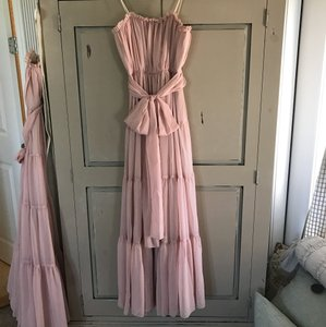 BHLDN Rosy Nude Chiffon W/ Lining Chelsea Feminine Bridesmaid/Mob Dress Size 12 (L)