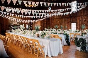Bunting 300 Feet Colored Flags In Mint Blush Grey White Rose