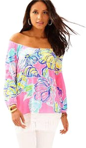 Lilly Pulitzer Top Kir Royal Pink Swept By The Seas