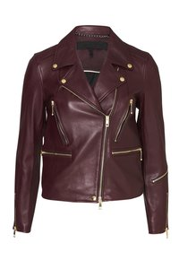 Rag & Bone Dark Burgandy/Red Leather Jacket