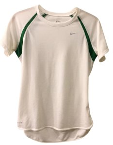 Nike T Shirt white with green
