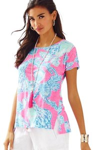 Lilly Pulitzer T Shirt Pink Pout Barefoot Princess