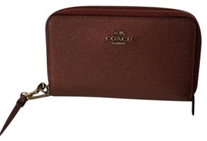 Coach New! Double Zip Phone Wallet