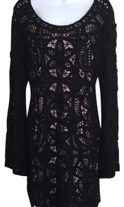 INC Crochet dress short dress Black on Tradesy
